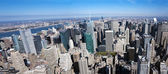 Aerial view of Manhattan New York City — Stock Photo