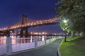 Roosevelt Island Promenade, New York City — Stock Photo