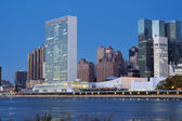 UN Headquarters from East River Manhattan, New York — Stock Photo