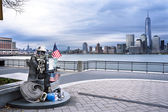 9 11 Memorial Statue Jersey City — Stock Photo