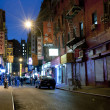 Stock Photo: Night scene in Chintown New York City