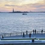 Sunset Liberty Statue New York City — Stock Photo #38212449