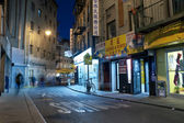 Night scene in China town New York City — Stock Photo