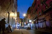Night scene in China town New York City — Stock Photo