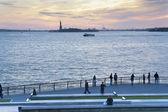 Sunset Liberty Statue New York City — Stock Photo