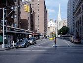 Street scene in Greenwich Village New York City — Stok fotoğraf