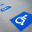 Foto de Stock  : Handicapped symbol disabled parking sign