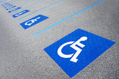 Handicapped symbol disabled parking sign — Stock Photo