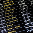 Departures flight information schedule in international airport — Stock Photo #39656461