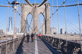 Walkway Brooklyn Bridge New York City — Stock Photo