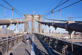 Get Fit on Walkway Brooklyn Bridge New York City — Stock Photo