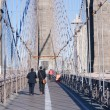Walkway Brooklyn Bridge New York City — Stock fotografie #41440719