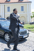 Vlade Divac, famous former professional basketball player — Стоковое фото