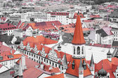 Red roof tops of Munich city center — Stock Photo