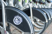 Stad fiets docking station in boston — Stockfoto