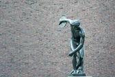 Discobolus famous greek sculpture — Stock Photo