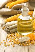Kukuřičný olej — Stock fotografie