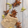 Stock Photo: Anise and cardamom