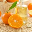 Stock Photo: Tangerine essential oil