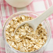 Oat flakes and milk — Stock Photo #18877515