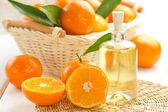 Tangerine essential oil — Stock Photo