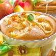 Homemade apple pie with cinnamon — 图库照片