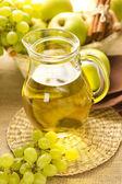 Grape and apple juice — Stock Photo