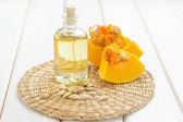 Pumpkin seed oil — Stock Photo