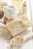 Oatmeal soap — Stock Photo