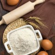Flour and eggs — Stock Photo #19447539