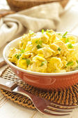 Salad of chicken breast with pineapple — Stock Photo