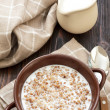 Buckwheat with milk - Stock Photo