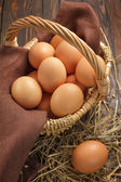 Raw eggs — Stock Photo