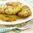 Zucchini pancakes — Stock Photo #26124111