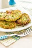 Zucchini pancakes — Stock Photo