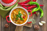 Soup Kharcho. Georgian cuisine. — Stock Photo