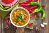 Soup Kharcho. Georgian cuisine. — Stock Photo