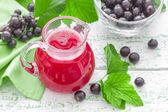Black currant juice — Stock Photo