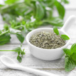 Fresh and dry basil — Stock Photo #28941475