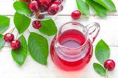Cherry juice — Stock Photo