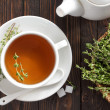 Stock Photo: Thyme tea