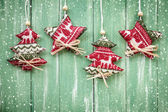 Christmas hanging decoration — Stock Photo