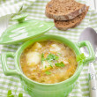 Buckwheat soup — Stock Photo