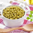 Stock Photo: Canned peas