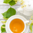 Stock Photo: Linden tea