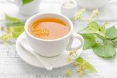 Linden tea — Stock Photo