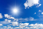 Blue sky with sun — Stock Photo