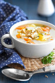 Meat soup — Stock Photo
