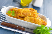 Fried fish in a batter — Stock Photo