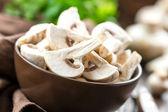 Raw mushrooms — Stockfoto